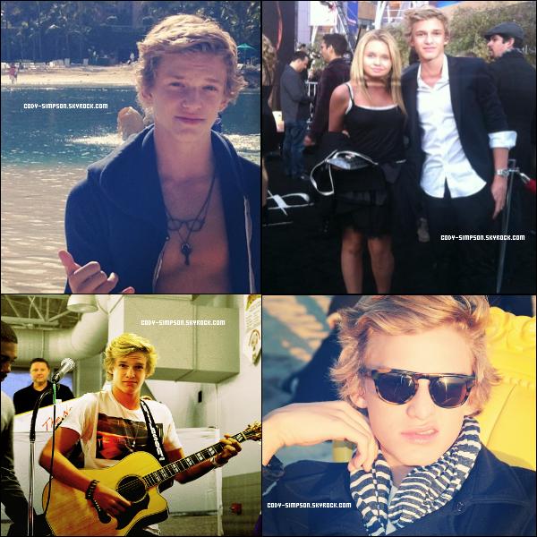 11 dec. Nouvelles photos postées sur le compte Instagram de Cody   .