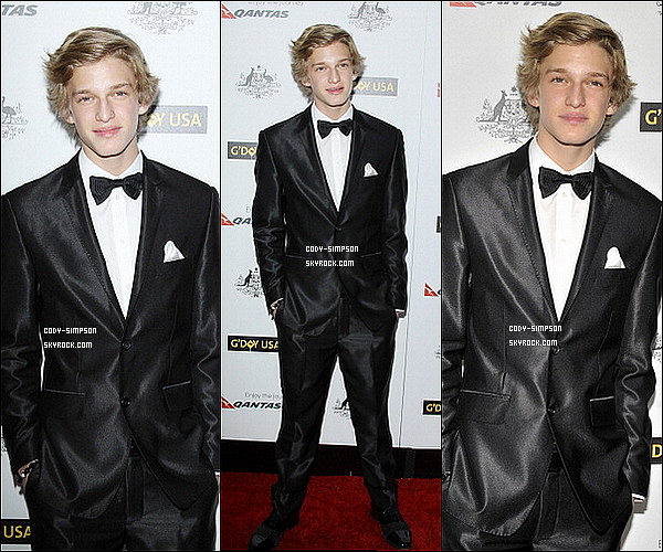 20 janv. Cody se rends au « Black Tie Gala » à Hollywood, en Californie.   .