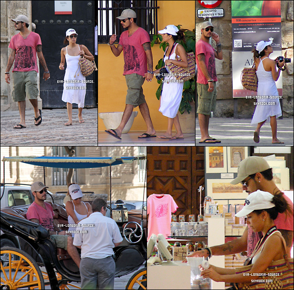 . 17/06/12 - Eva & son Boyfriend  main dans la main faisaient du shopping à Séville en Espagne . _________________________________________________________________________________________________________