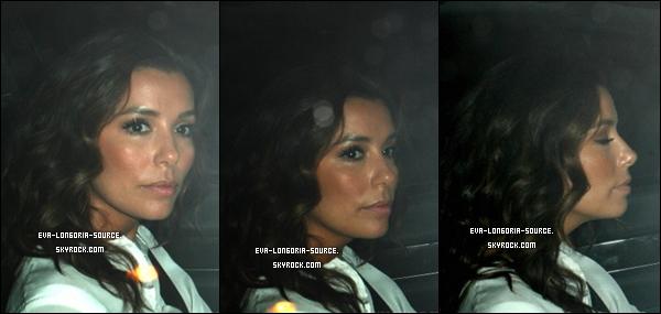 . 02 Juillet 2012  - Eva dans sa voiture pour aller dans le restaurant Mateo's de West Hollywood pour rencontré Victoria et David Beckham ..