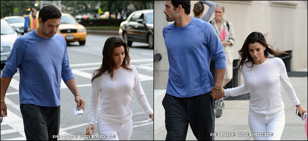 21.09  : La belle Eva avec son nouveau chérie Mark Sanchez main dans la main dans New York . Le tout nouveau couple Eva/Mark était en train de chercher un appartement ensemble à NYC  Voudrais t-il habité ensemble ? .