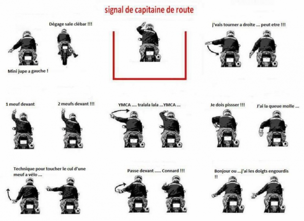 Signes de motards