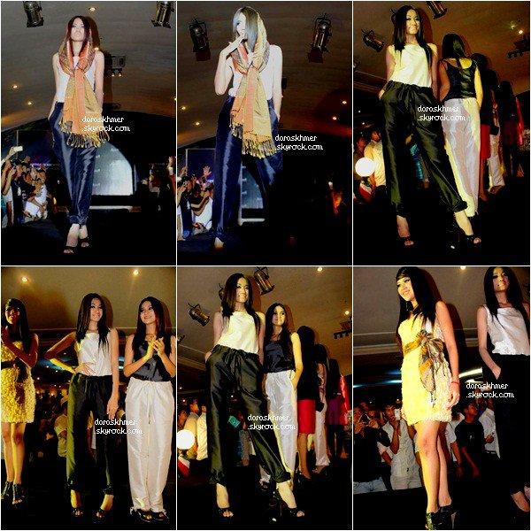 25/o8/12 : Ranou et Touck Sreyleah Fashion Show « Artisans d'Angkor » qui se trouve a Phnom Penh .