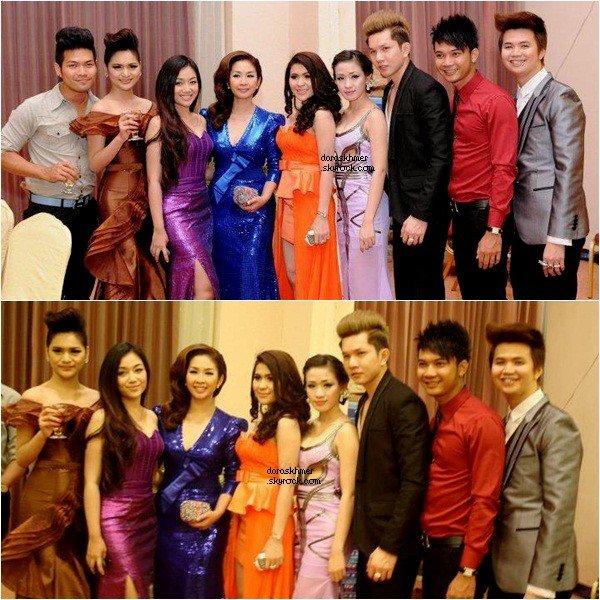 27/08/2012- La magnifique Som Mana et d'autres Daras Khmer se sont rendue à une soirée a Phnom Penh .