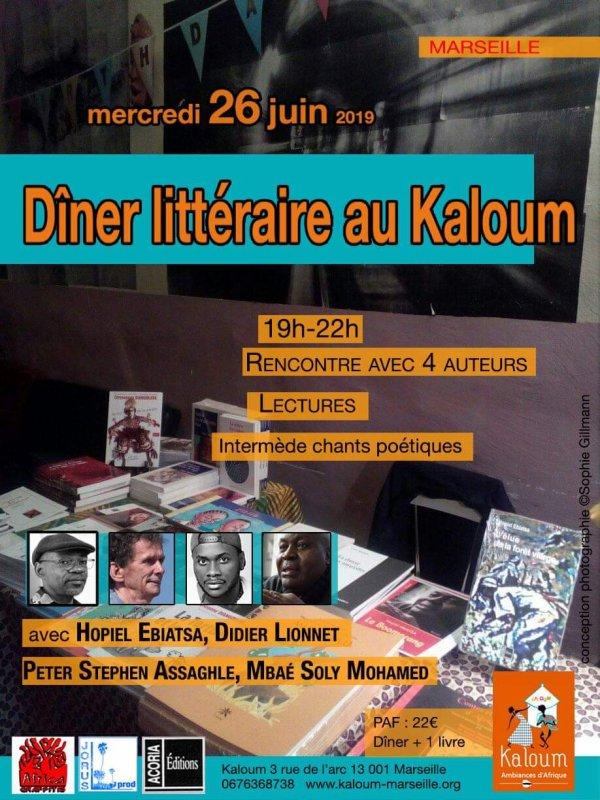 Dîné littéraire kaloum Marseille