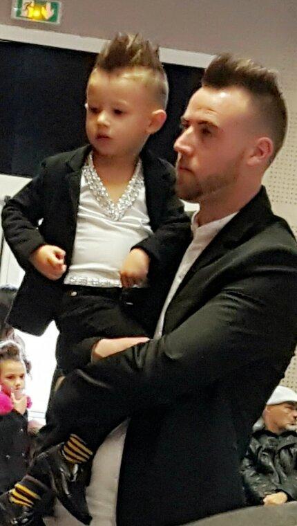 Mon neveu et son fils leyni