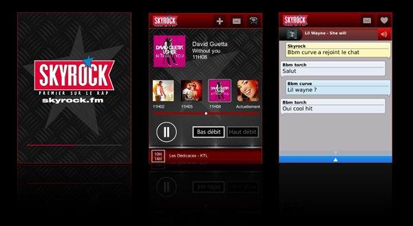 Télécharge l'appli Skyrock pour BlackBerry® !