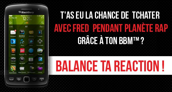 T'as tchaté avec Fred ? Balance ta réaction !