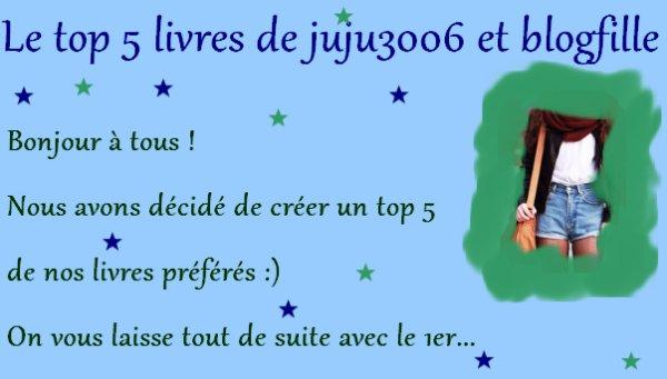Le top 5 de Juju3006 et Blogfille !