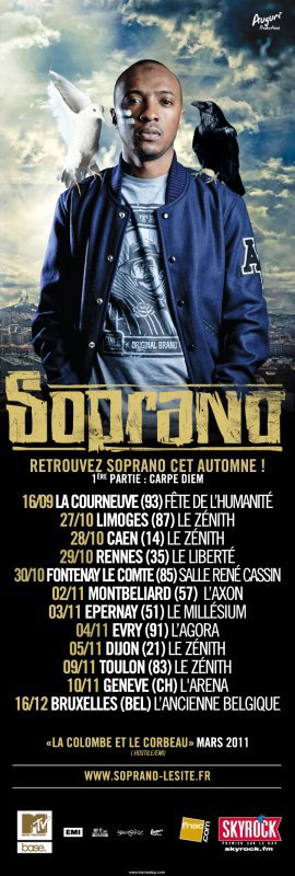SOPRANO - NOUVELLE TOURNEE DES ZENITHS EN FRANCE