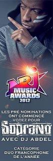 """Votez pour Soprano et DJ Abdel pour qu'ils soient nominés aux  Nrj Music Awards 2012 avec le titre """"C'est ma life"""""""