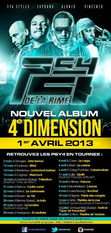 NOUVEL ALBUM PSY 4 DE LA RIME - 4ème DIMENSION DANS LES BACS LE 1ER AVRIL + DATE DE TOURNEE .ıllılı. Facebook Fan Officiel .ıllılı. Twitter Officiel .ıllılı.