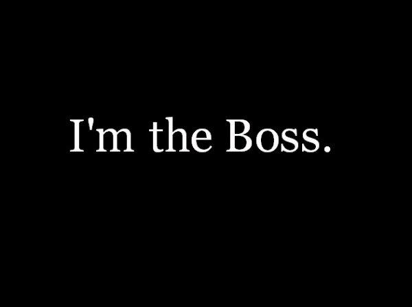 The boss...