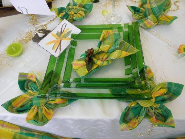 L 39 art de la table en madras prest 39 art d co for Feuille de palmier deco