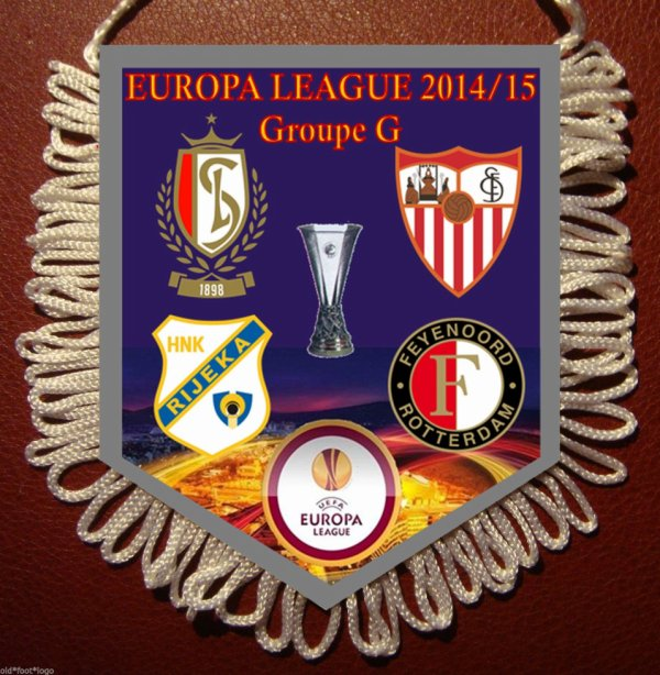 FANION VAANTJE STANDARD LIEGE Europa League 2014/2015 4 logos