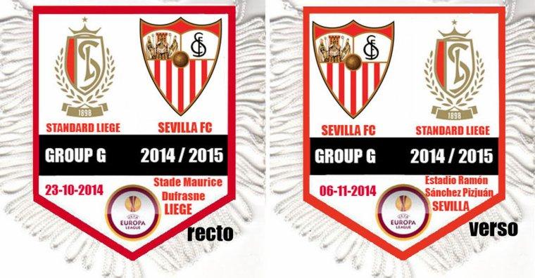 FANION WIMPEL PENNANT EUROPA LEAGUE 2014 / 2015 (48 teams , 144 matchs)