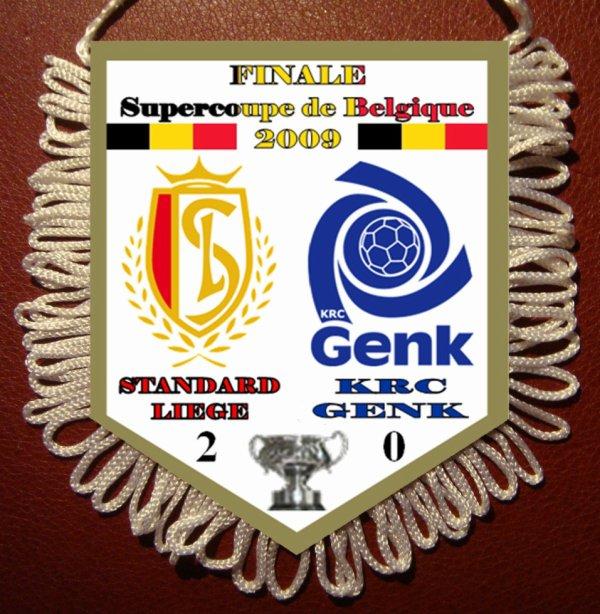 FANION VAANTJE Finale SuperCoupe Belgique 2009 : STANDARD LIEGE - KRC GENK