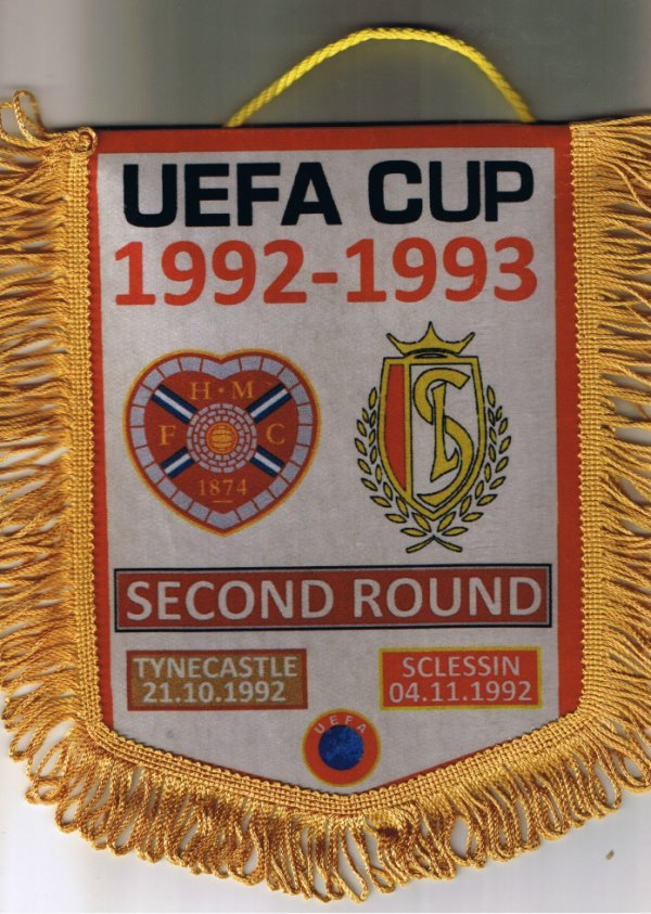 FOOTBALL PENNANT HEART OF MIDLOTHIAN vs STANDARD LIEGE Uefa Cup 1992-93