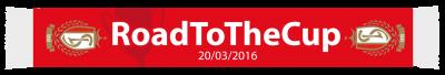 Echarpe finale coupe de Belgique 2015 - 2016