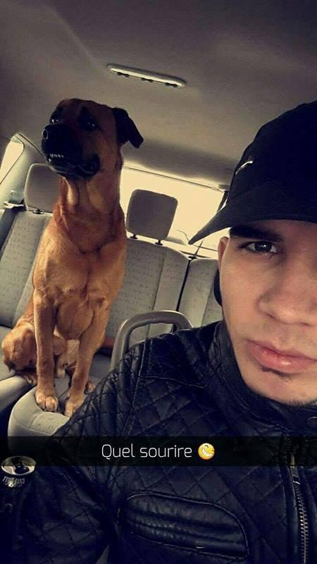 mon fils et mon chien