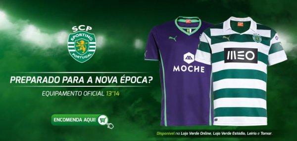 Les 107 ans du Sporting Clube de Portugal avec leur maillot saison 2013-2014