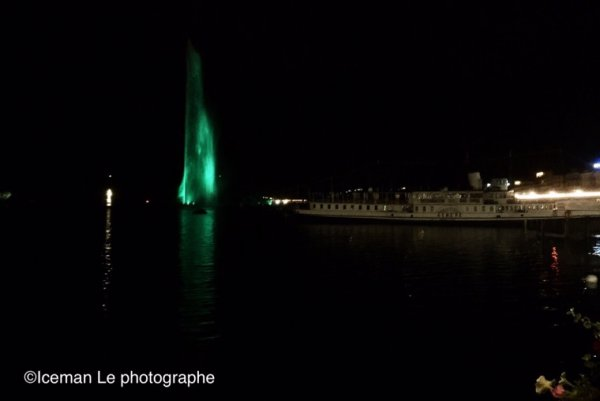 Jet d eau de Genève en Vert