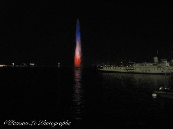 Jet d eau de Genève aux couleurs de la France Part 2