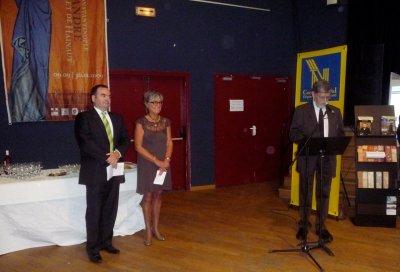 Accueil par Monsieur Krisine, président du syndicat d'initiative de Saint-André