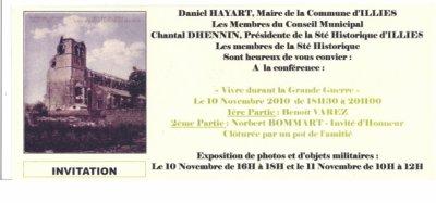 Exposition à Illies pour les commémorations du 11 novembre