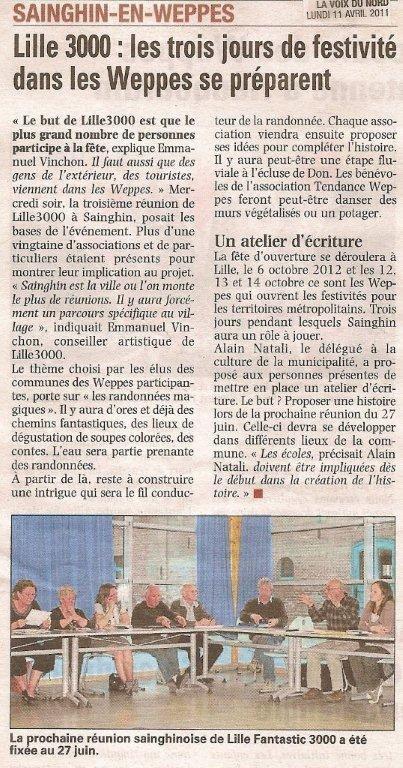 La prochaine édition de Lille 3000, ce sera aussi dans les weppes ! Et le Cercle historique de Don y participe.
