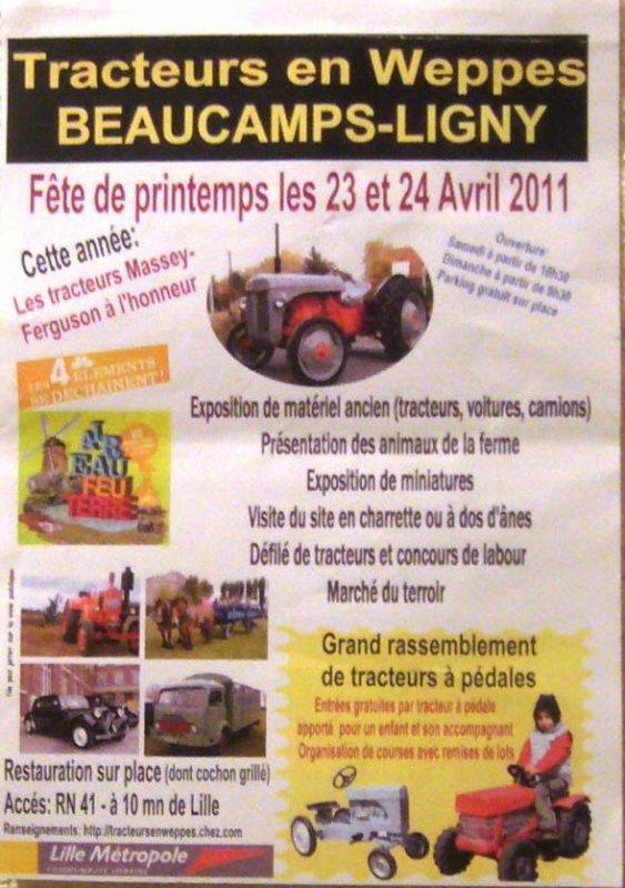 Petit rappel : Tracteurs en Weppes, c'est le week-end prochain !