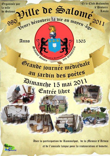 Dimanche 15 mai : fête médiévale à Salomé