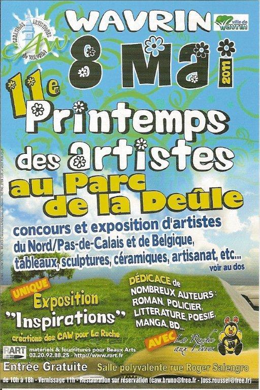Petit rappel : dimanche, fête du printemps des artistes à Wavrin