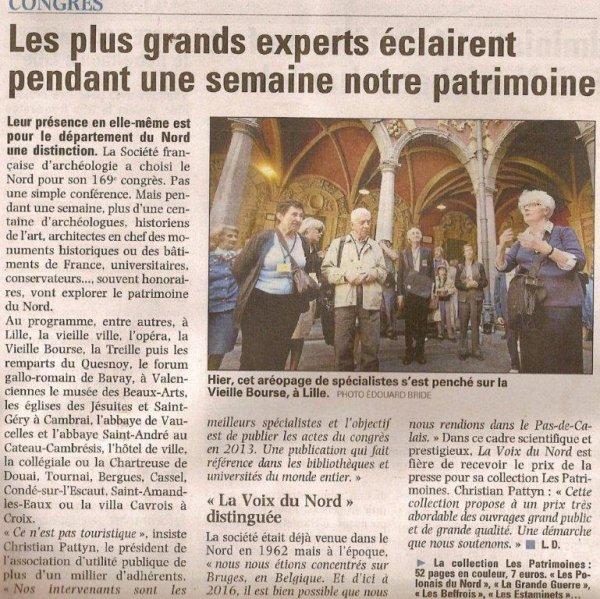 ^La Société française d'Archéologie en congrès dans le Nord cette semaine