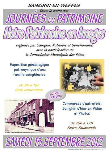 Geneflandres participe aux journées du patrimoine à Sainghin-en-Weppes