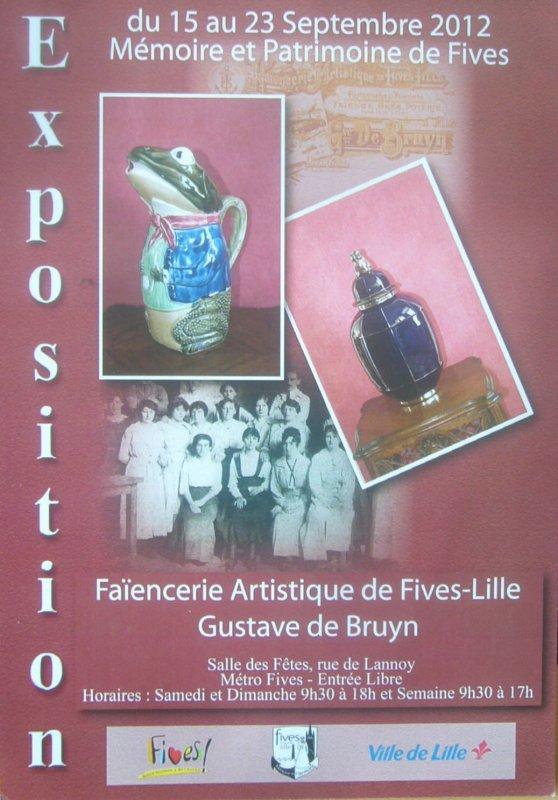 Journée européennes du patrimoine 2012 : l'association Mémoire et Patrimoine de Fives met la faïencerie d'art de Bruyn à l'honneur