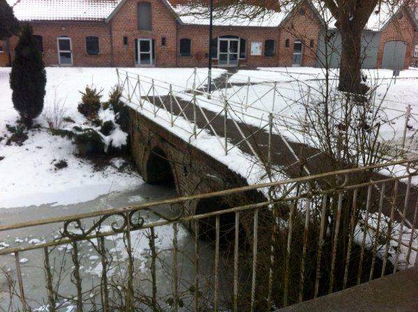 Les Weppes enneigées... du côté de Le Maisnil (photos Chantal Dhennin)