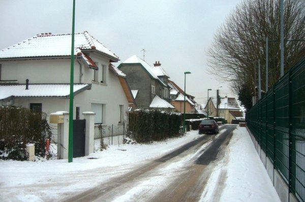 La cité des cheminots de la Délivrance à Lomme sous la neige (photos Frédéric Faucon)