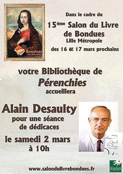 samedi 2 mars : dédicaces à la bibliothèque de Pérenchies