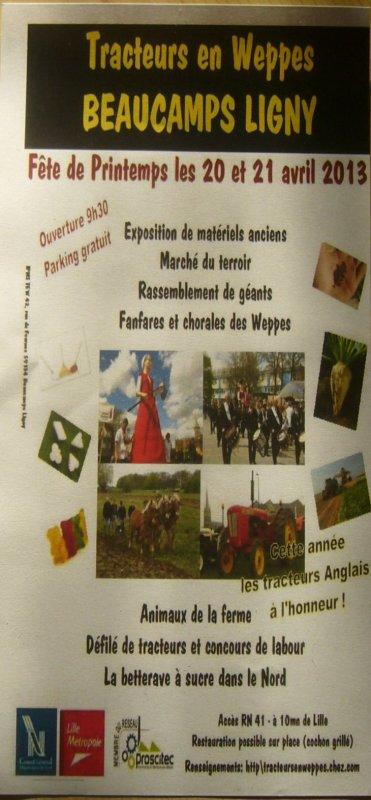 20 et 21 avril 2013 : la fête de printemps de Tracteurs en Weppes