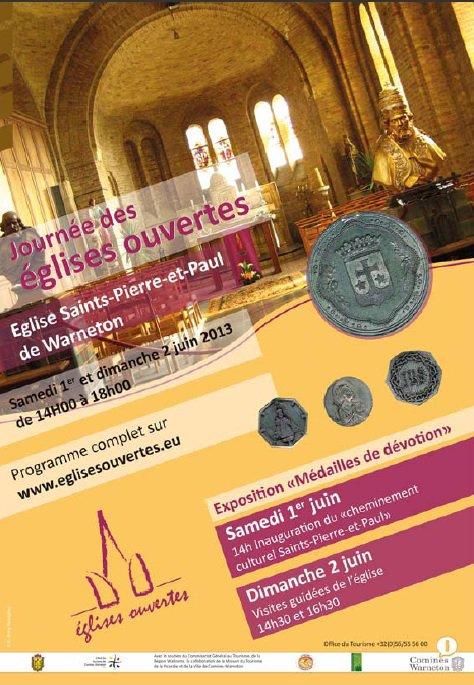 Visiter l'église de Warneton, ce sera possible les 1er et 2 juin grâce à une collaboration entre l'office de tourisme de Comines-Warneton et la Société d'Histoire de Comines Warneton et de sa région