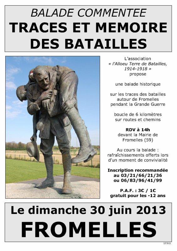 Dimanche 30 juin, sur les traces et la mémoire des batailles à Fromelles