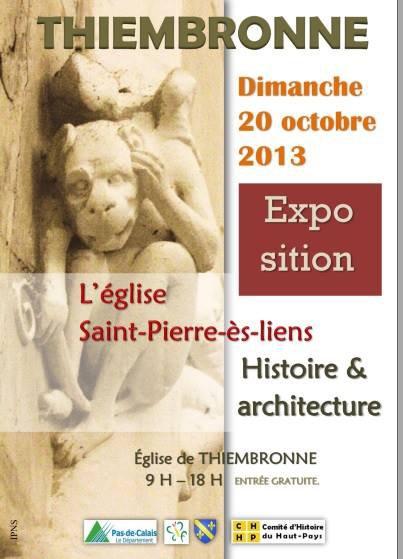 Exposition sur l'église de Thiembronne, dans le Haut-Pays d'Artois, ce dimanche 20 octobre