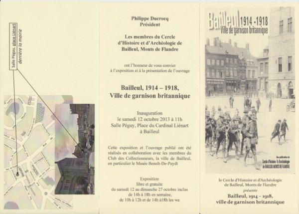 Bailleul 1914-1918, ville de garnison britannique