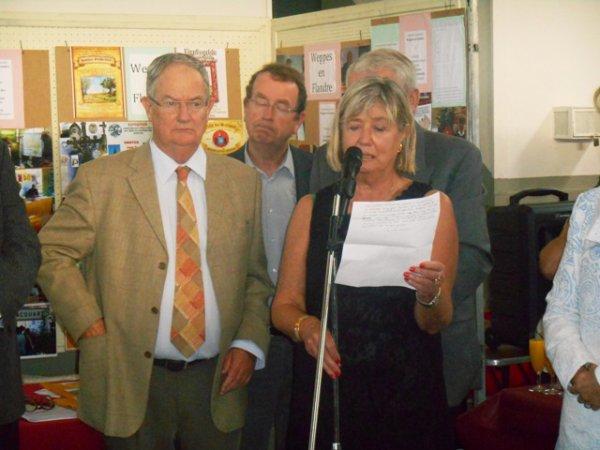 Forum des Weppes 2013 à Warneton Belgique : les discours d'inauguration (madame la présidente, la prochaine fois, il faudra prévoir une tribune de presse !)