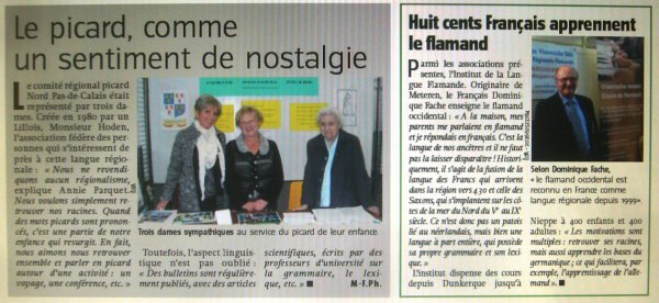 On parle du forum des Weppes 2013 à Warneton dans le journal belge Le Courrier
