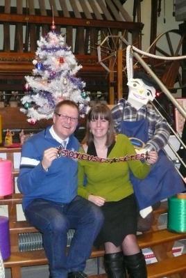 C'est Noël pour le musée de la rubanerie à Comines-Warneton Belgique !