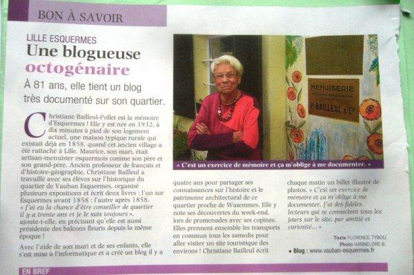 Christiane, la bloggueuse d'Esquermes-Lille