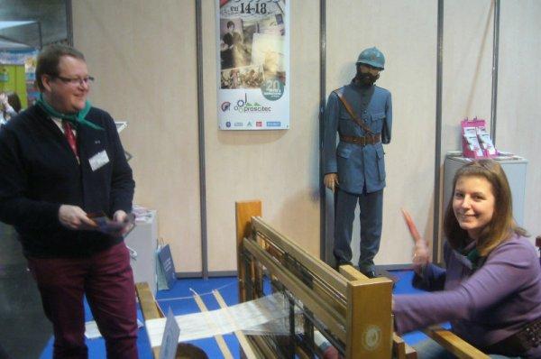 Le musée de la Rubanerie cominoise est présent au salon Tourissima, entouré de ses amis de Proscitec