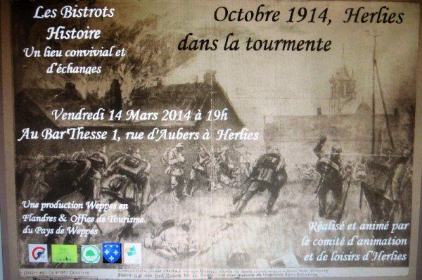Le troisième bistrot histoire des Weppes consacré à la Première Guerre mondiale, ce sera ce vendredi 14 mars à Herlies